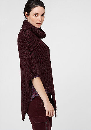 Chunky knit poncho from s.Oliver