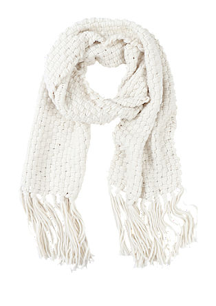 Chunky woven scarf with fringes from s.Oliver