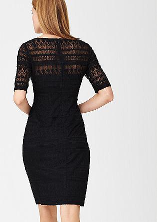 Čipkasta obleka z mešanim vzorcem