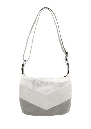City bag met metallic effect
