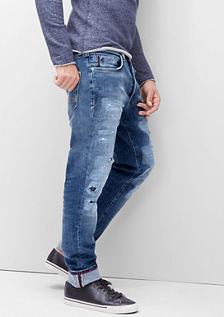 Clerk Straight: Destroyed-Jeans