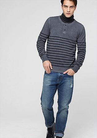 Close slim: jeans met een used look