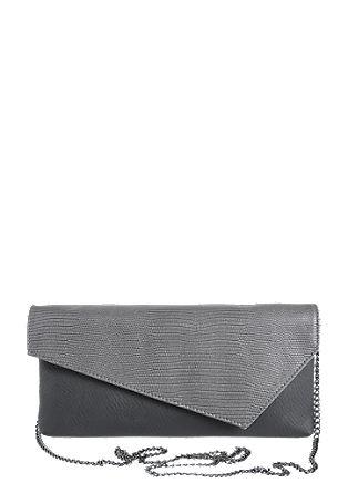 Clutch torbica z mešano teksturo