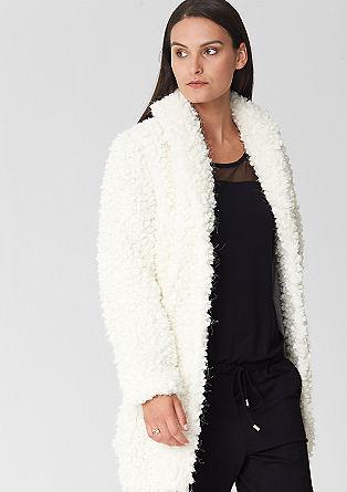 Coat in fancy yarn from s.Oliver