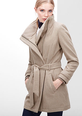 Coat met strakke look