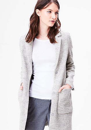 Coat with a woven texture from s.Oliver