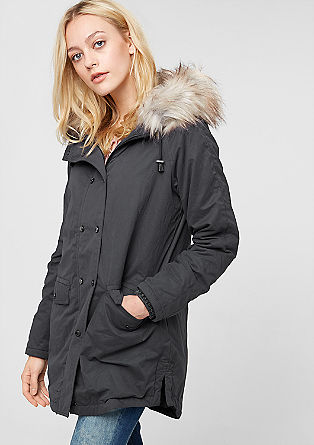 Coat with fake fur hood from s.Oliver