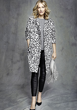 Coat with leopard skin pattern from s.Oliver
