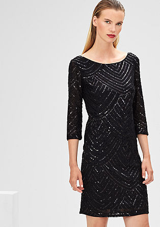 Cocktail dress with sequins from s.Oliver
