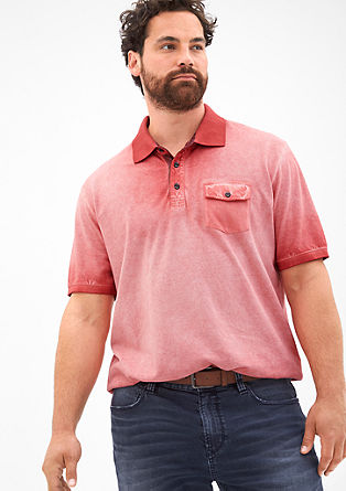 Cold pigment dyed poloshirt