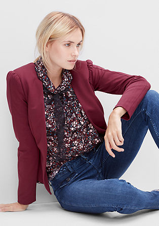 Collarless short blazer from s.Oliver
