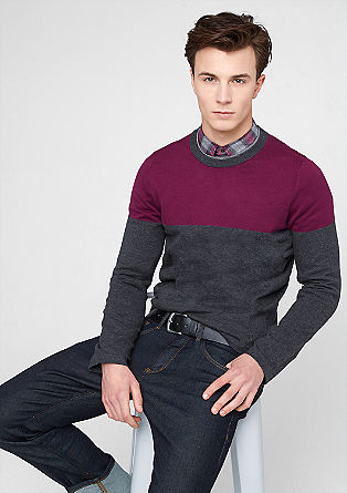 Color Blocking-Strickpullover