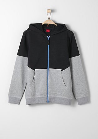 Colour block zip-up sweatshirt from s.Oliver