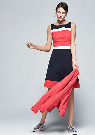 Colour blocking sheath dress from s.Oliver