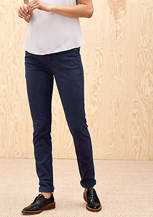 Coloured stretch jeans from s.Oliver