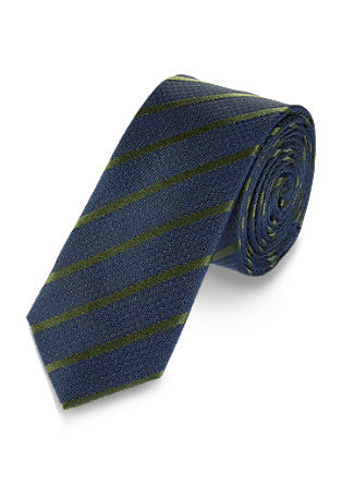 Colourful, striped silk tie from s.Oliver
