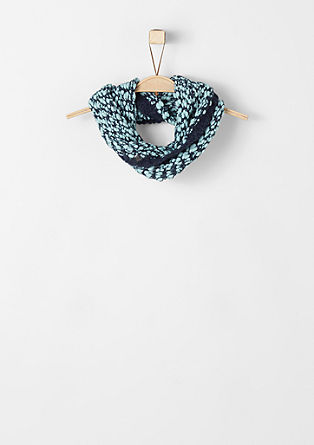Colourful melange snood from s.Oliver