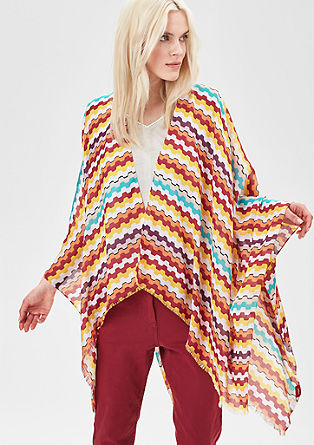 Colourful summer poncho from s.Oliver