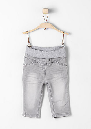 Comfortabele jeans met een geribde band