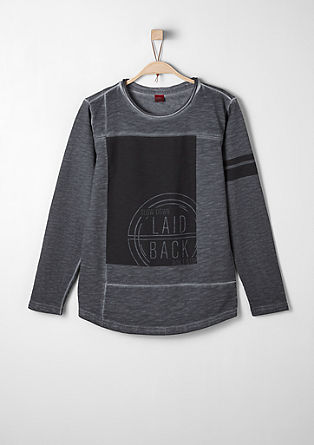 Cool sweatshirt with a dye effect from s.Oliver