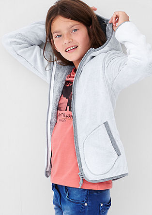 Cosy plush jacket from s.Oliver
