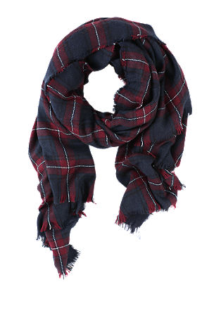 Cosy scarf with checks from s.Oliver