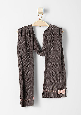 Cotton blend scarf from s.Oliver