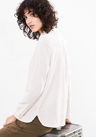 Cotton blouse with button placket from s.Oliver
