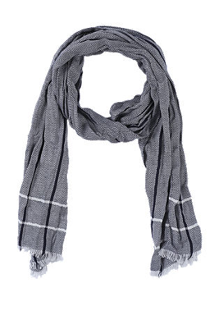 Cotton scarf with a herringbone pattern from s.Oliver