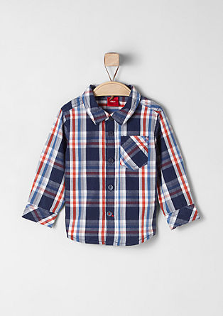 cotton shirt with a check pattern from s.Oliver