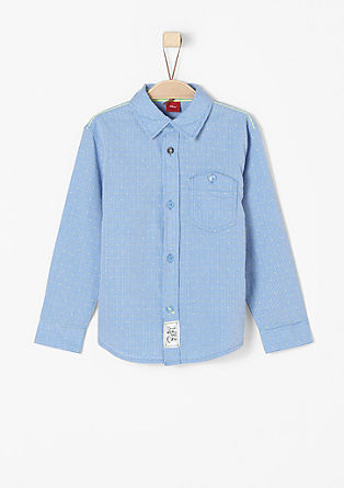 Cotton shirt with a woven texture from s.Oliver