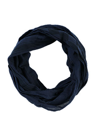 Cotton snood in a crumpled look from s.Oliver