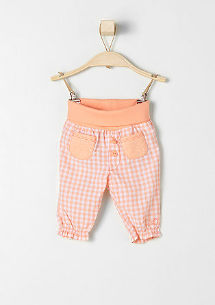 Cotton trousers in gingham check from s.Oliver