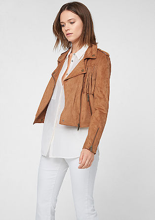 Cowboy jacket with fringing from s.Oliver