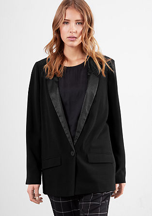 Crêpe blazer with satin collar from s.Oliver