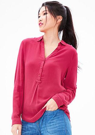 Crêpe blouse in tuniekstijl