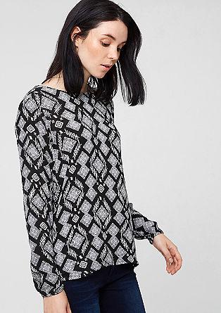 Crêpe blouse met een crinkle effect