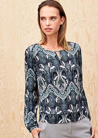 Crêpe blouse met een print all-over
