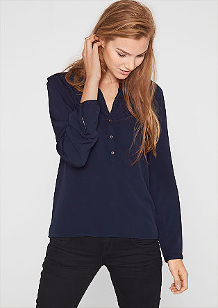 Crêpe blouse with a tunic neckline from s.Oliver