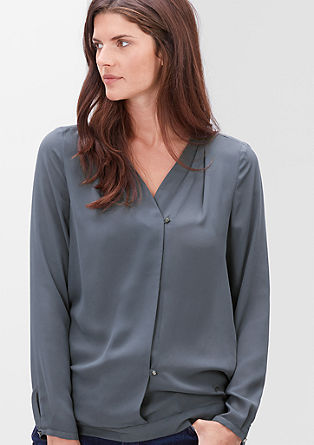 Crêpe blouse with a wrap-over effect from s.Oliver
