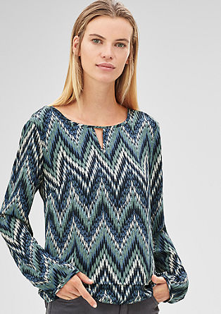 Crepe blouse with an all-over print from s.Oliver