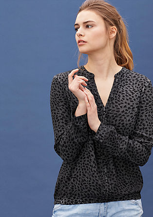 Crepe blouse with an animal print from s.Oliver