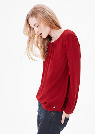 Crêpe blouse with pleats from s.Oliver