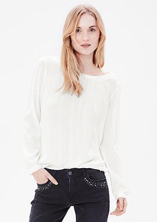 Crêpe-Bluse mit Falten