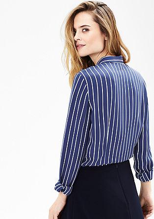 Crêpe-Bluse mit Streifen