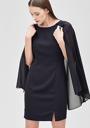 Crêpe dress with a chiffon cape from s.Oliver