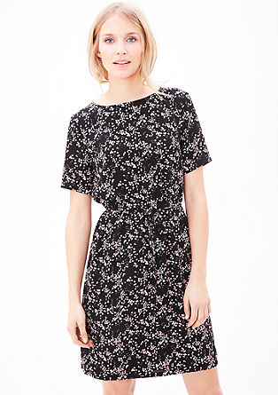 Crêpe dress with an all-over pattern from s.Oliver