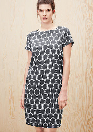 Crepe dress with an all-over print from s.Oliver