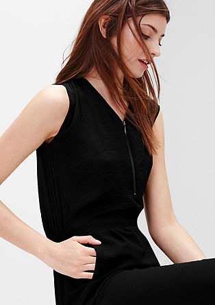 Crêpe jumpsuit in a 2-in-1 look from s.Oliver