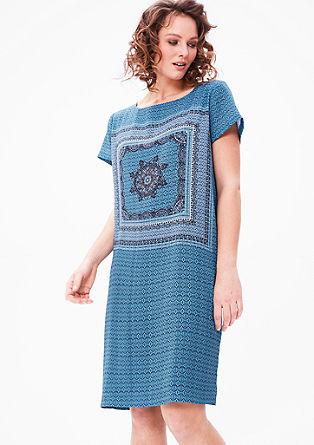 Crêpe jurk met motiefprint